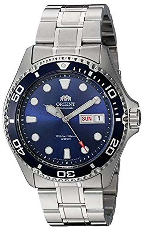 5. Orient Men's Ray II Japanese Automatic Stainless Steel Diving Watch