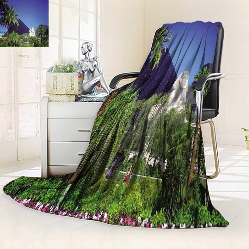 YOYI-HOME Soft Warm Cozy Throw Duplex Printed Blanket Luxor Hotel Casino on Las Vegas Strip Fuzzy Blankets for Bed or Couch/86.5'' W by 59'' H