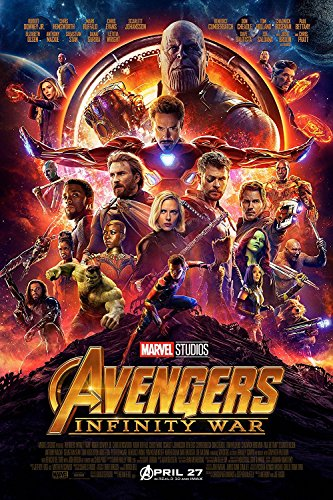 The Avengers Infinity War Poster - Certified Print with Holographic Sequential Numbering for Authenticity