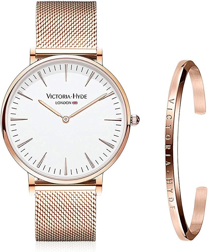 VICTORIA HYDE Moda Simple Mujer Hombre Unisex Reloj de Pulsera de ...