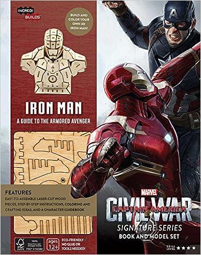//ONLINE\\ IncrediBuilds: Marvel's Captain America: Civil War: Iron Man Signature Series Book And Model Set. wherever Agosto encanto Regular latest