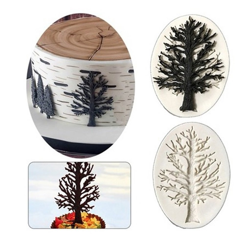 Chocolate & Sweet Moulds Christmas tree Bakeware Tins & Trays VWH Flower Christmas Tree Animal Silicone Chocolate Moulds Sugar Resin Craft DIY Gum Paste Cake Decorating Fondant Mold