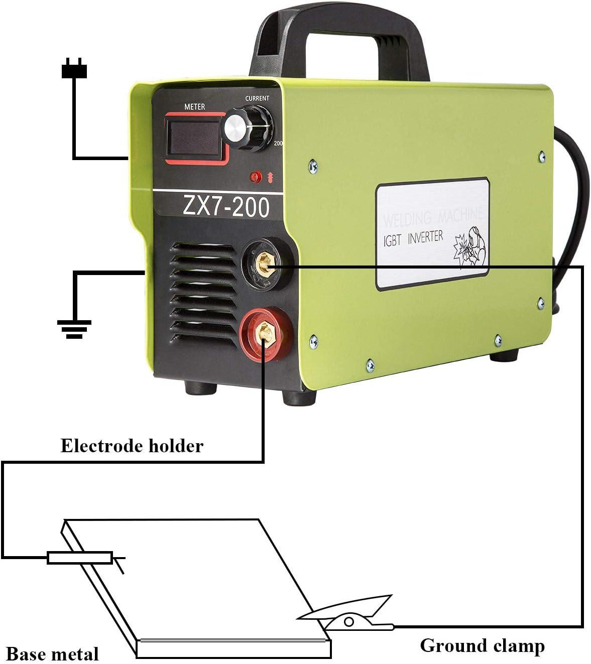 ENJOHOS Soudage//Poste /à Souder /à larc IGBT Inverter Technologie Onduleur 200A Vert 3.8kg Accessoires de Soudure pour Soudage Acier//Fonte,Ferronnerie,Serrurerie,T/ôlerie Baguettes Soudure Electrode