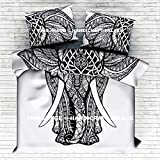 "Ethnic Indian Elephant Mandala Print Bedding Duvet Quilt Cover Queen Duvet Set By ""Handicraft-Palace"""