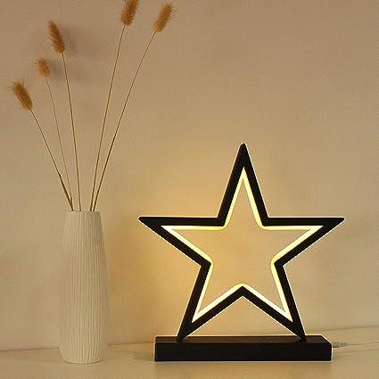 Amazon.com: Fanshunlite - Lámpara de mesa, 5 puntos, LED ...