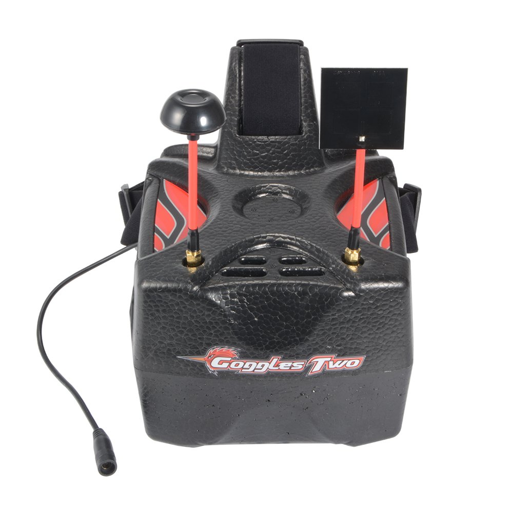 XCSOURCE Eachine Goggles Two 5'' Diversity 40CH Raceband HD1080p HDMI Wireless FPV Video Headset Glasses for Quadcopter Recording AH337