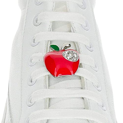 5bf338fb1323c Amazon.com: Shoelace Customization - Apple Red Shoelace Charm ...