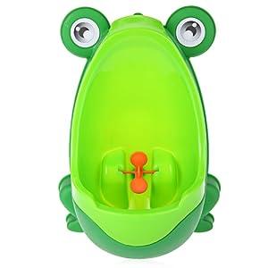 Frog enfants Potty Toilettes formation Dessin animé pour enfant Urinoir pour garçons Pee Trainer avec moulin à vent visée Cible Vert