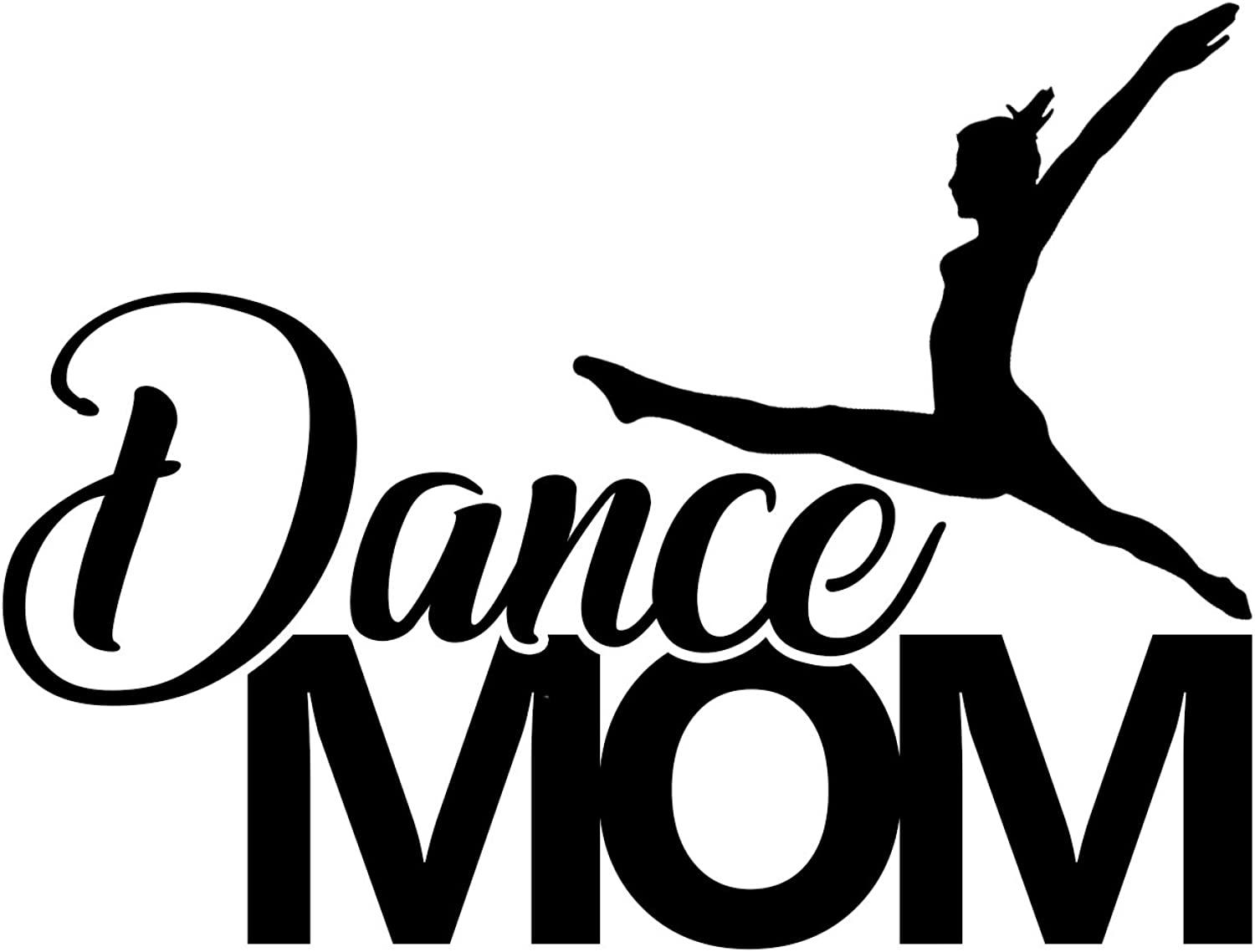 Dancer Bumper Sticker WickedGoodz White Vinyl Dance Mom Decal Transfer Perfect Dance Mom Gift