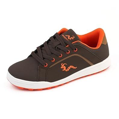 7048bca70e8 Woodworm Golf Surge V3 Mens Golf Shoes Brown Orange Size 7