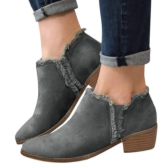 Amazon.com: Gyoume - Botas de invierno para mujer, botas de ...