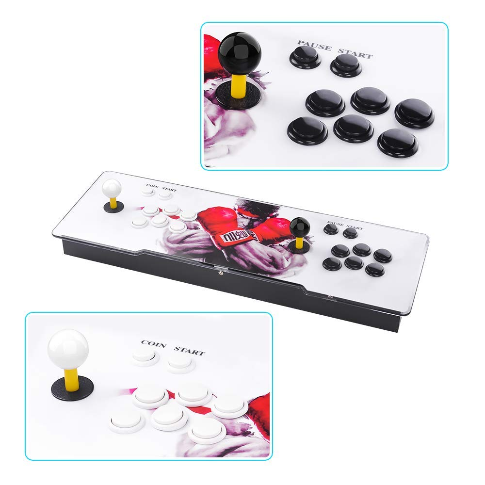 TAPDRA Pandora's Box 9 Multiplayer Joystick and Buttons Arcade Console, Cabinet Games Machines for Home, 1500 Retro Classic Video Games, Newest System with Advanced CPU, Compatible with HDMI (Grey) by TAPDRA (Image #6)