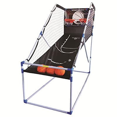Sportcraft Double Shot Electronic Basketball Arcade Game : Sports & Outdoors