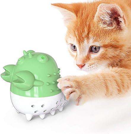 POPETPOP Juguete para Cepillo de Dientes de Gato Juguete para Masticar en Forma de Pez de Dibujos Animados para Rascarse Y Limpiarse Los Dientes de Gatito Y Artefacto de Auto Diversión Y