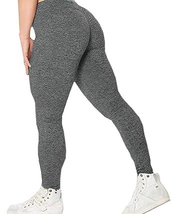 8e22dc0ec5904c AELSON Women's High Waist Scrunch Butt Lift Legging Skinny Tights Flex Yoga  Pants at Amazon Women's Clothing store: