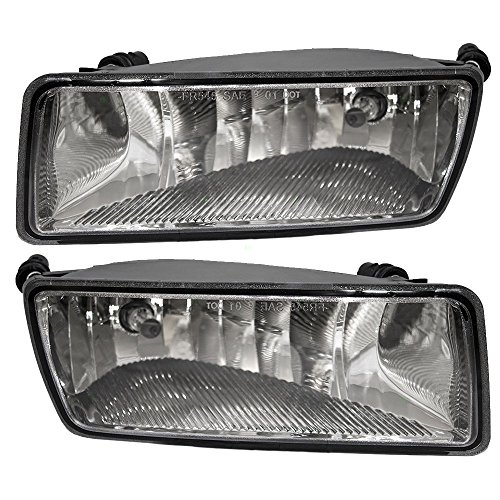 Driver and Passenger Fog Lights Clear Rectangular Lens Replacement for Ford Pickup Truck SUV 6L2Z15201AA 6L2Z15200AA