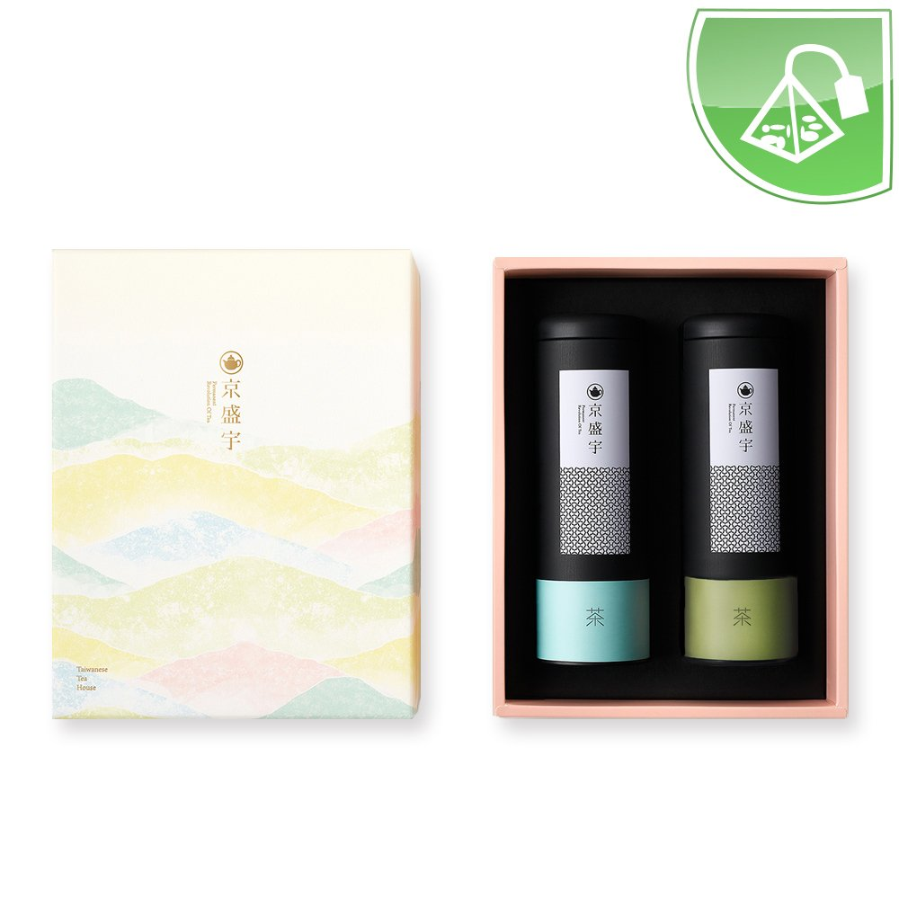 Taiwan Tea Gift Set (Includes 20 Si Ji Chun Tea Bags and 20 Lightly Roasted Dongding Oolong Tea Bags) by JING SHENG YU CO., LTD.
