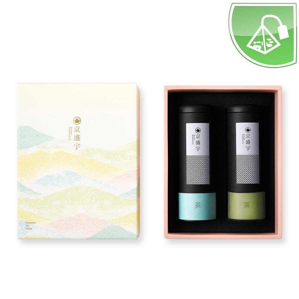 Taiwan Tea Gift Set (Includes 20 Si Ji Chun Tea Bags and 20 Lightly Roasted Dongding Oolong Tea Bags)
