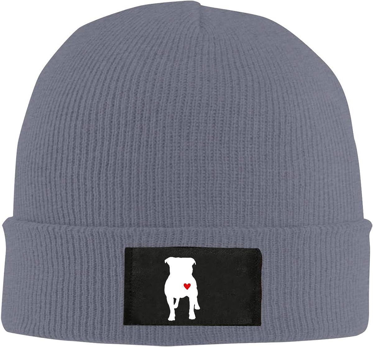 BF5Y6z/&MA Unisex Pitbull Heart Knitting Hat 100/% Acrylic Fashion Beanies Cap
