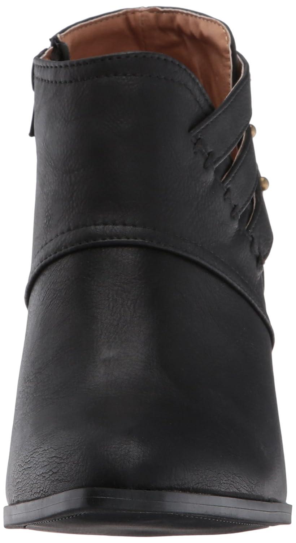 Qupid Women's Prenton-10 Ankle Bootie B06Y62TLRK 5.5 B(M) US|Black Burnish Polyurethane