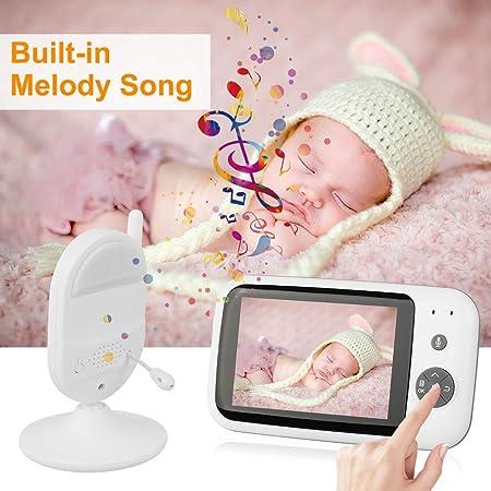 Baby Monitor 3.5/'/'LCD Babyphone Babyviewer Day//Nachtsicht Temperaturüberwachung