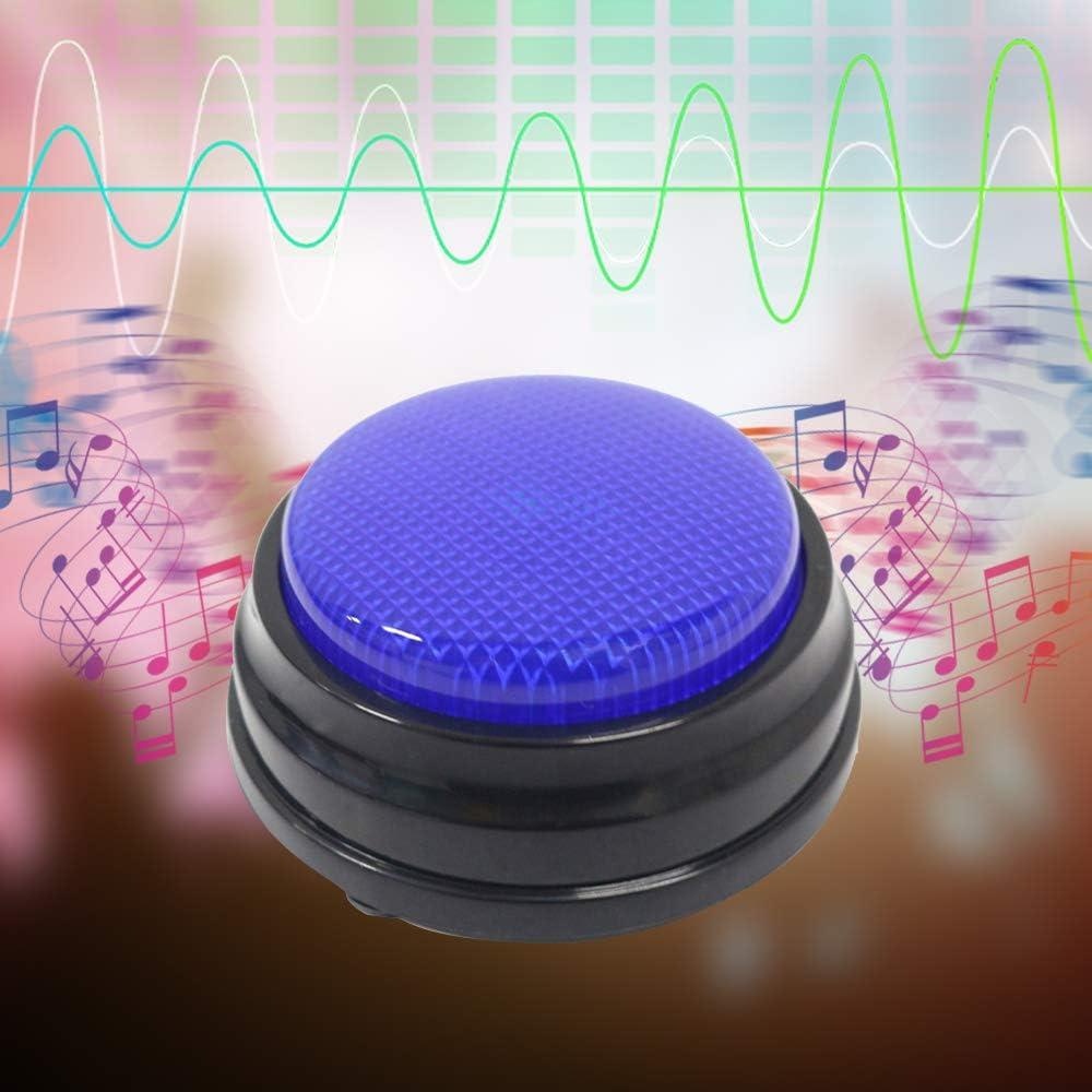 Walmeck Registrazione Vocale Pulsante Audio per Bambini Giochi Interattivi Pulsanti di Risposta Arancione Piccola Dimensione Facile Carry