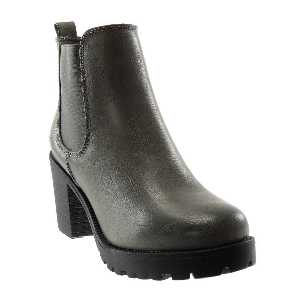 Angkorly - B000LEQMF2 Femme Chaussure Mode Bottine Chelsea Boots Plateforme 19995 Slip-on Femme élastique Talon Haut Bloc 8 CM Gris 79e6502 - shopssong.space