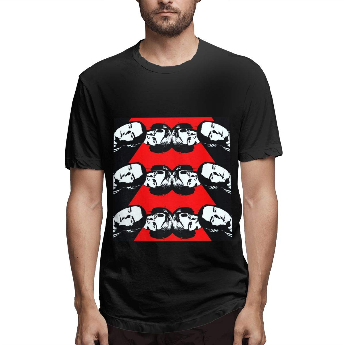 Lihehen Man Erasure Fashion Leisure Round Neck Tees Shirts