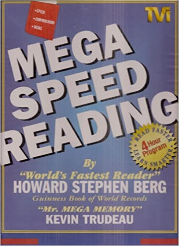 Mega Speed Reading -- (6 Audio Cassettes - VHS Videocassette - Workbook - Clamshell): Amazon.com: Books