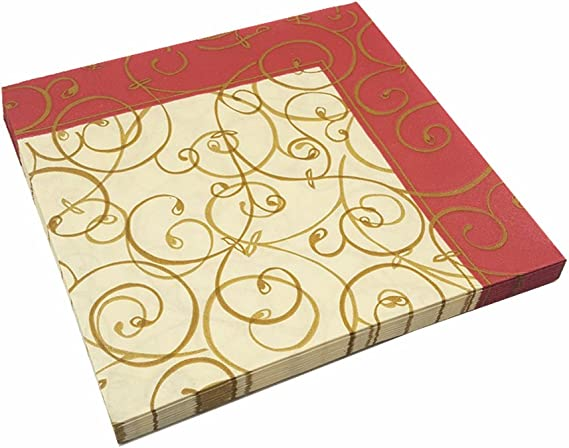 Meiosuns Napkins Floral Paper Napkins Tea Cups Paper Cocktail Napkins Decorative Napkin for Tea Party