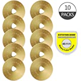 Titanium Coated Rotary Cutter Blades 45mm 10 Pack Blades Quilting Scrapbooking Sewing Arts Crafts,Sharp and Durable