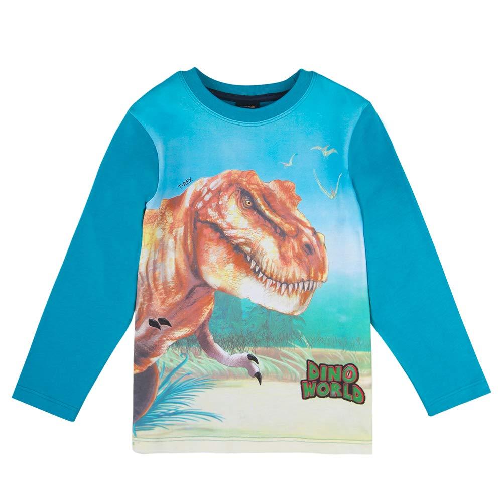 Manga Larga Azul DINO WORLD ni/ños Camiseta T-Shirt