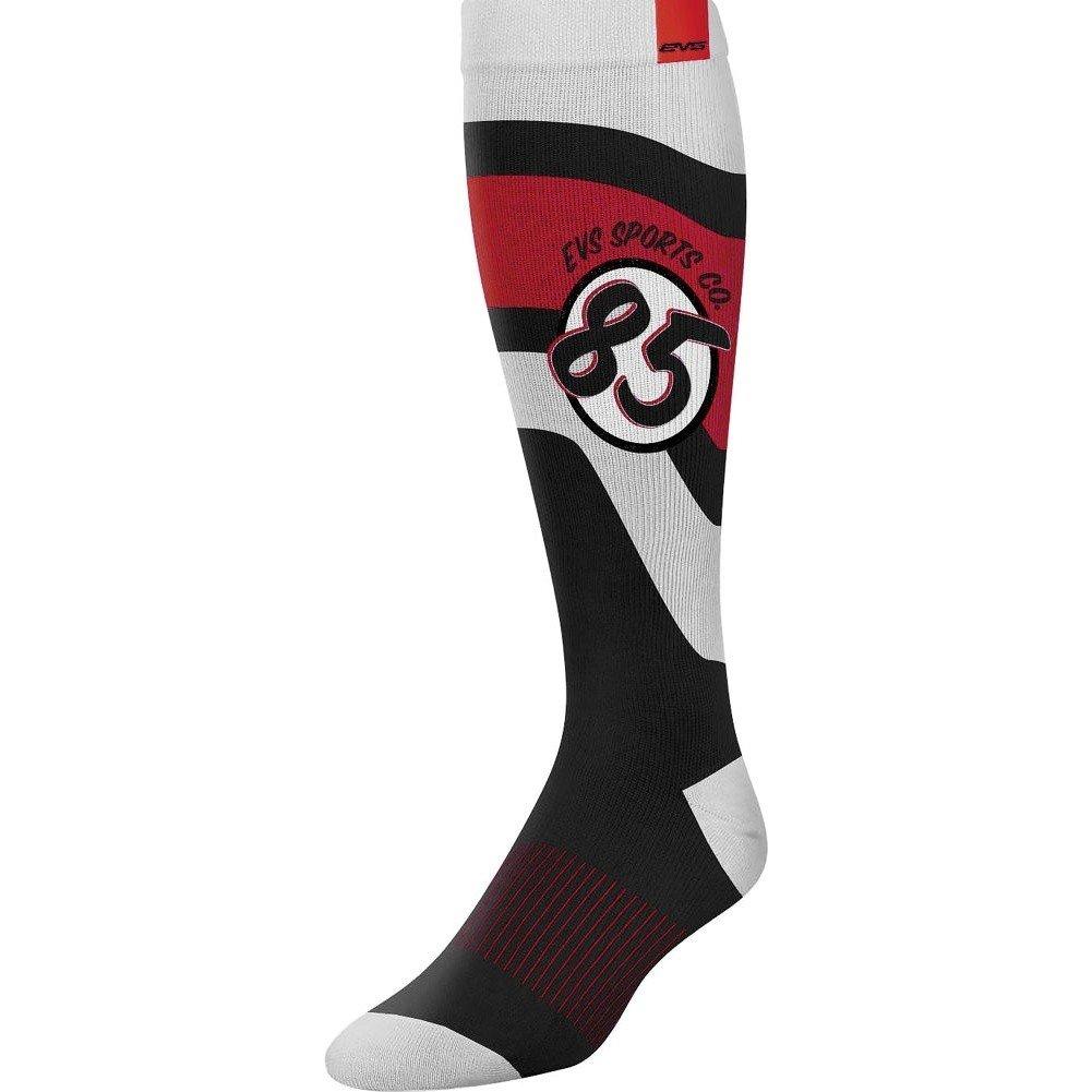 EVS Sports unisex-adult Moto Sock - Cosmic (Black, Small), 1 Pack