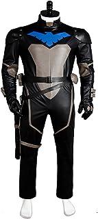 UU-Style Superhero Nightwing Robin Dick Grayson Halloween Cosplay Costume Jumpsuit  sc 1 st  Amazon.com & Amazon.com: Batman Unlimited Nightwing Deluxe Costume Childu0027s Large ...