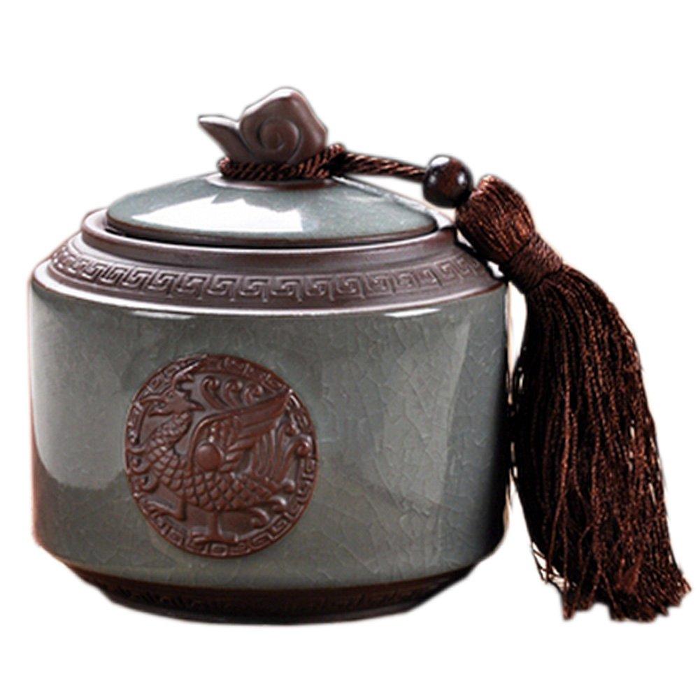 Plateau de stockage Jar Bonbons/Snack Pot Thé chinois Container 600ML Blancho Bedding