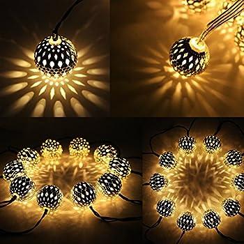 20 LED Light String Creative Rattan Ball Lamp Warm Light for Party Decor QJ