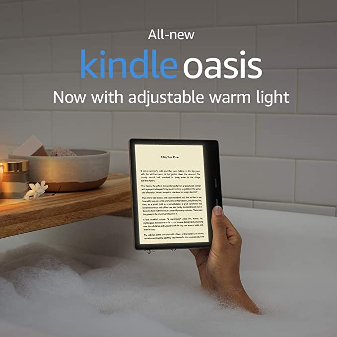All New Kindle Oasis   Now With Adjustable Warm Light   Includes Special Offers by Amazon