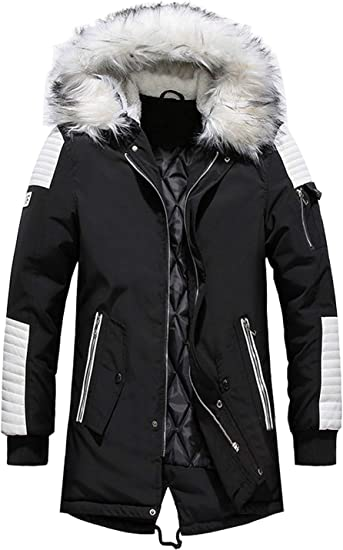 Black Parka Coat With Hood