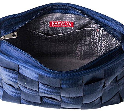 Harveys Indigo Messenger Bag Womens Seatbelt wgnxwT