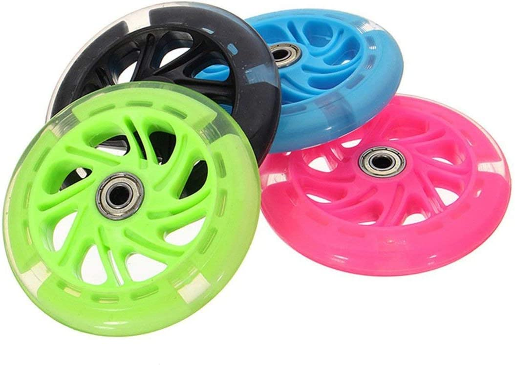 80 100 120mm LED Flash Light Up Wheel for Mini Micro Scooter w// 2 ABEC-7 Bearing