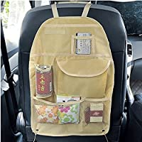 UXOXAS Portable Waterproof Vehicle Seatback Bag Finishing With Pockets Car Seat Compartment Pouch