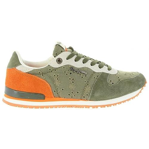 Pepe Jeans Zapatillas Deporte de Mujer PLS30507 Gable 861 Iron: Amazon.es: Zapatos y complementos