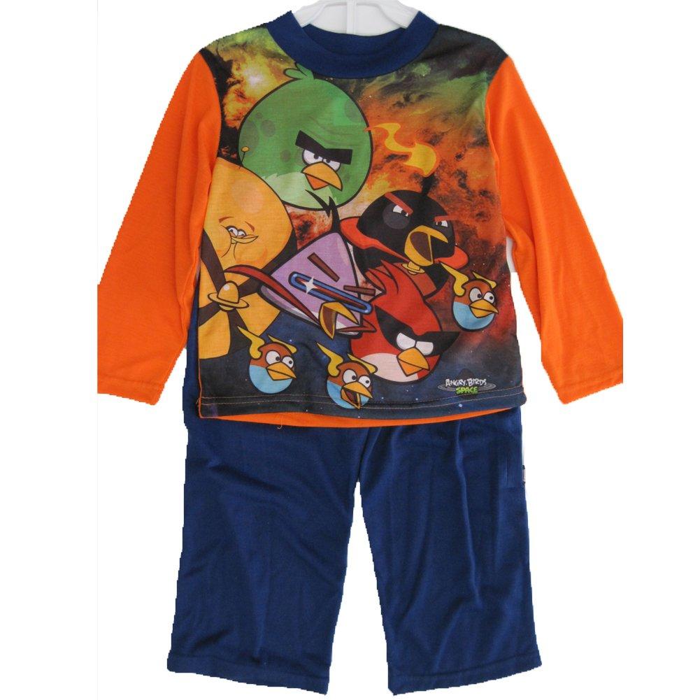 Angry Birds Spiderman Little Boys Orange Spidey Graphic Print 2 Pc Pajama Set 4-6