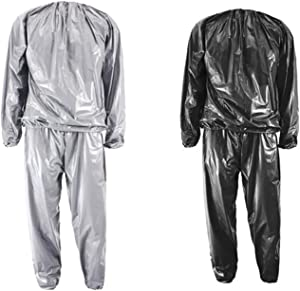 GRHOSE Heavy Duty Sweat Sauna Suits Weight Loss Exercise Gym Fitness Sports Running Workout Sauna Suit Anti-Rip for Men Women