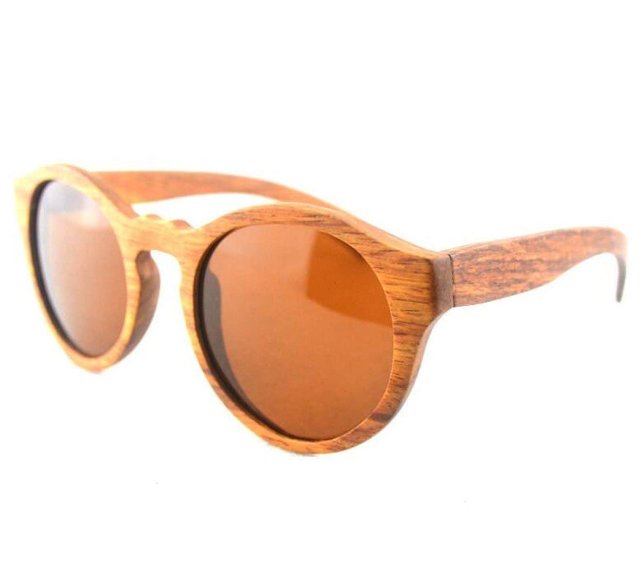 Madera Gato Gafas De Sol Polarizadas, RosewoodTea-L: Amazon ...