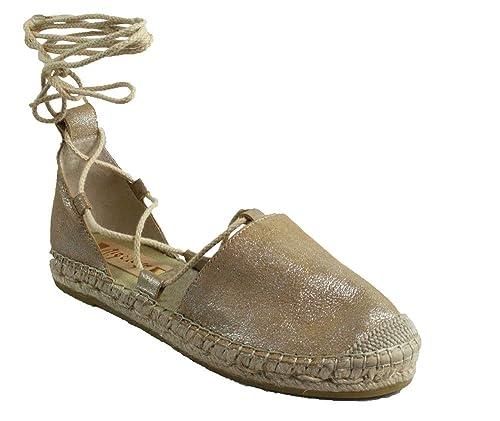 Vidorreta - Alpargatas de Piel para mujer beige beige, color beige, talla 36: Amazon.es: Zapatos y complementos