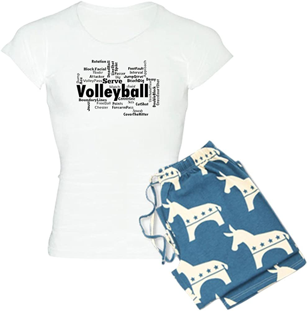 CafePress Volleyball Pajamas Womens PJs