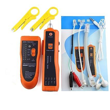 DAXGD UTP STP RJ45 RJ11 Rastreador de cables telefónicos Trazador de tóner Ethernet LAN Detector de