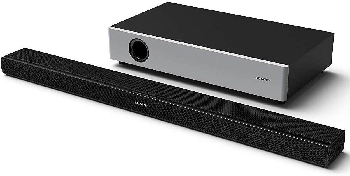 Sharp HT-SBW160 2.1 - Barra de Sonido Cine En Casa, Subwoofer Inalámbrico, Bluetooth, control de Rango Dinámico, Hdmi Arc/Cec, 360 W de Potencia, Color Negro: Sharp: Amazon.es: Electrónica