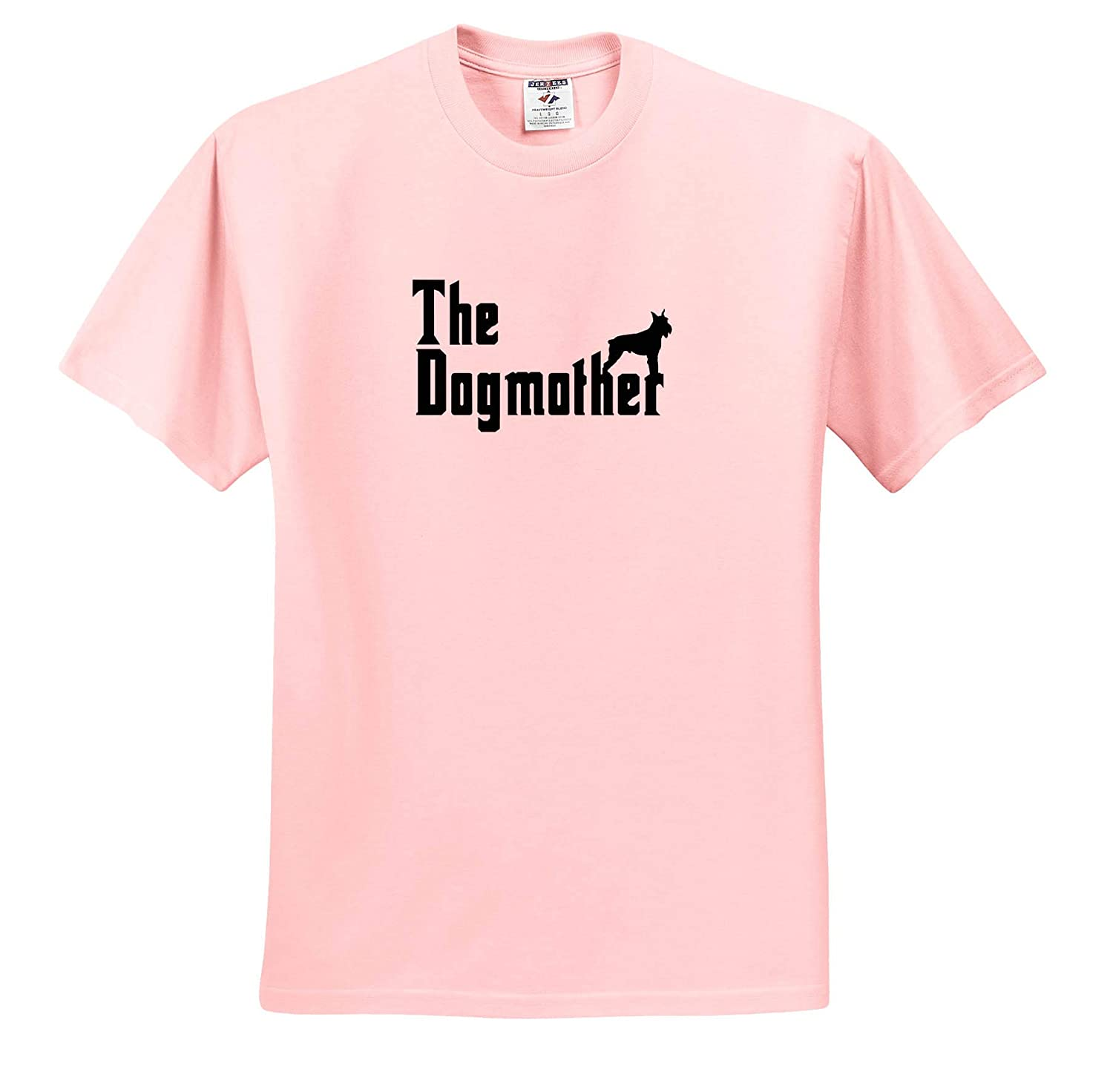 T-Shirts The Dogmother Schnauzer Silhouette Funny Dog 3dRose Carsten Reisinger Illustrations